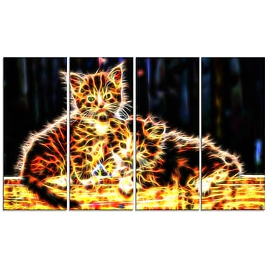 Designart – Impression sur toile, chatons colorés, 5 panneaux (PT2352-271)