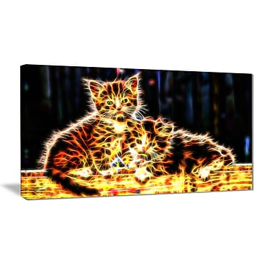 Designart Vivid Kittens Canvas Art Print, 5 Panels, (PT2352-32-16)