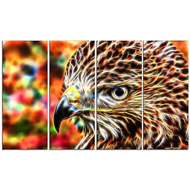 Designart Vibrant Eagle Large Animal Canvas Artwork, (PT2353-271)