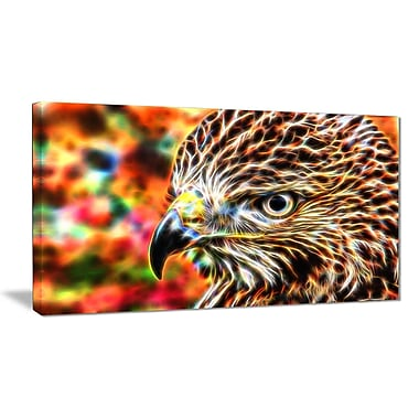 Designart Vibrant Eagle Large Animal Canvas Artwork, (PT2353-32-16)