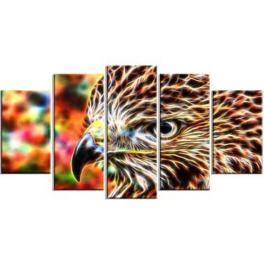 Designart Vibrant Eagle Large Animal Canvas Artwork, (PT2353-373)