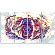 Design Art Bold Bear Large Animal Canvas Artwork