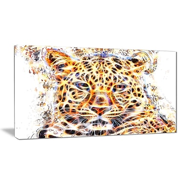 Designart Fetching Feline Large Animal Canvas Artwork, (PT2357-32-16)