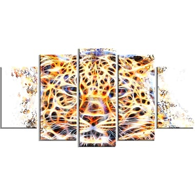 Designart Fetching Feline Large Animal Canvas Artwork, (PT2357-373)