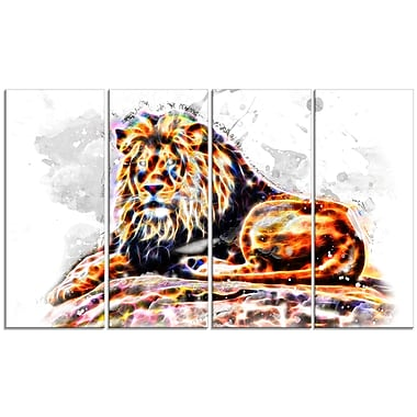 Designart Captivating King Large Animal Canvas Artwork, (PT2359-271)