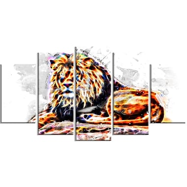 Designart Captivating King Large Animal Canvas Artwork, (PT2359-373)