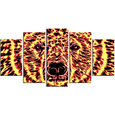 Designart Psychedelic Bear Large Animal Canvas Artwork, (PT2360-373)