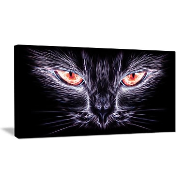 Designart Cat Eyes Canvas Wall Art, (PT2402-32-16)