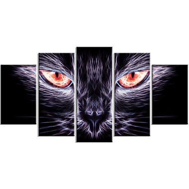 Designart Cat Eyes Canvas Wall Art, (PT2402-373)