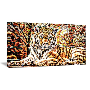 Designart Tiger Pride Animal Art on Canvas, (PT2404-32x16)