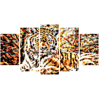 Designart Tiger Pride Animal Art on Canvas, (PT2404-373)