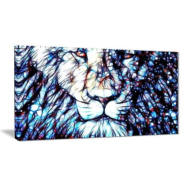 Designart Leader of the Pack Lion Canvas Art, (PT2406-32x16)