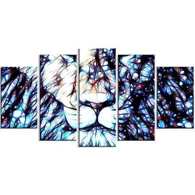 Designart Leader of the Pack Lion Canvas Art, (PT2406-373)