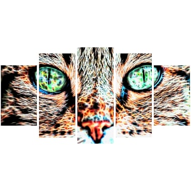 Designart Windows to the Soul Cat Eyes Canvas Art, (PT2411-373)
