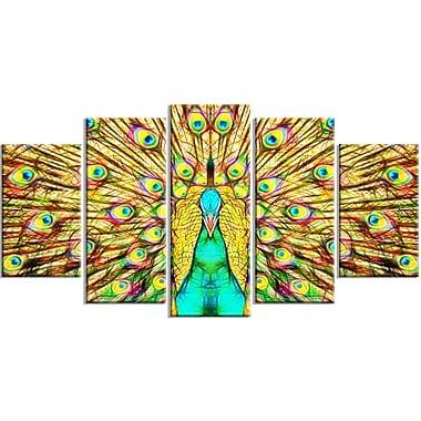Designart – Imprimé sur toile, plumes de paon colorées (PT2414-373)