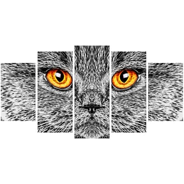 Designart Grey Cat Animal Art Canvas, Multiple Sizes, (PT2416-373)