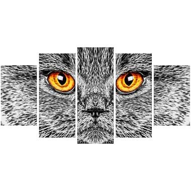 Designart – Chat gris, impression sur toile d'animal, tailles variées (PT2416-373)