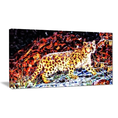 Designart On the Prowl Cheetah Animal Art, Multiple Sizes, (PT2417-32-16)