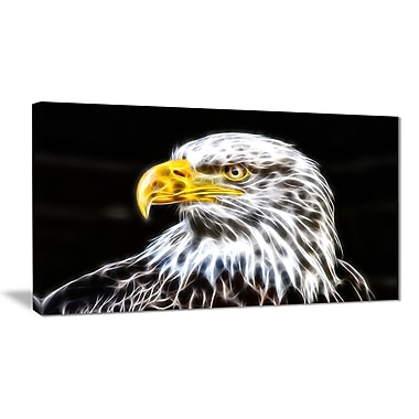 Designart Bald Eagle Animal Art Canvas, Multiple Sizes, (PT2419-32-16)