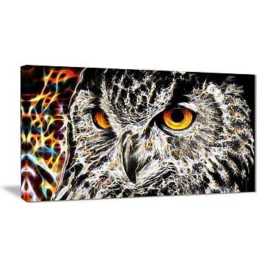 Designart A Real Hoot Owl Animal Canvas Art, Multiple Sizes, (PT2420-32-16)