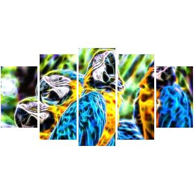 Designart – Art animal sur toile, fête de perroquets, tailles variées (PT2423-373)
