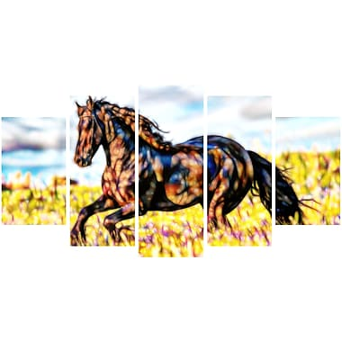Designart Ride Free Horse Animal Art Canvas, Multiple Sizes, (PT2424-373)