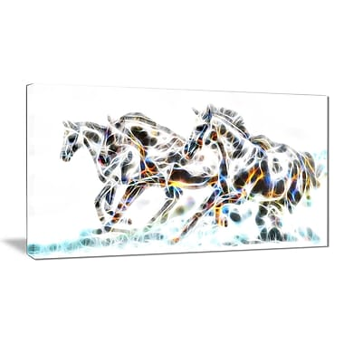 Designart Wild Horses Animal Art Canvas, Multiple Sizes, (PT2425-32-16)