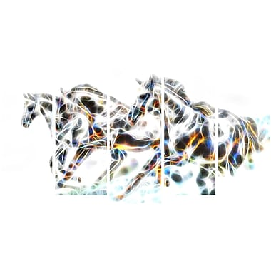 Designart Wild Horses Animal Art Canvas, Multiple Sizes, (PT2425-373)