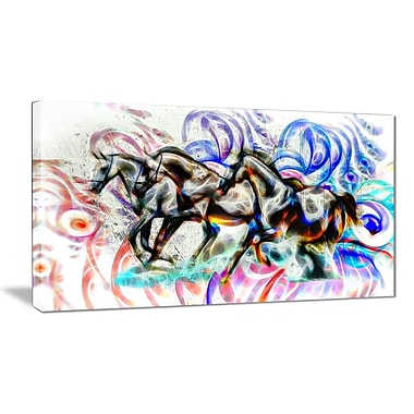 Designart Graffiti Horses Animal Canvas Art, Multiple Sizes, (PT2427-32-16)