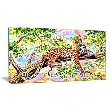 Designart Watchful Cheetah Animal Art Canvas, Multiple Sizes, (PT2428-32-16)