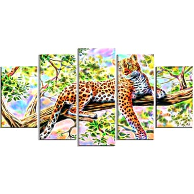 Designart Watchful Cheetah Animal Art Canvas, Multiple Sizes, (PT2428-373)