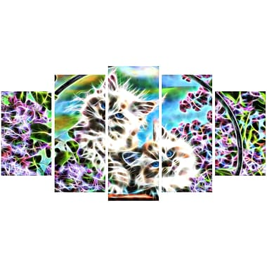 Designart – Chatons dans un panier, impression sur toile d'animal, tailles variées (PT2433-373)