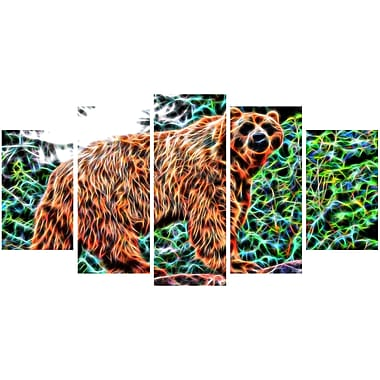 Designart Brown Bear Animal Canvas Art, Multiple Sizes, (PT2434-373)