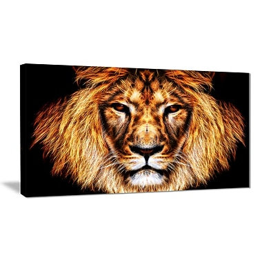 Designart Hear Him Roar Animal Canvas Art Print, 40