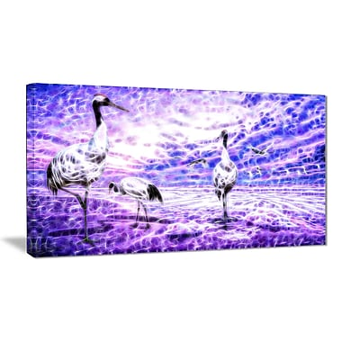 Designart Storks Animal Art Canvas, Multiple Sizes, (PT2438-32-16)