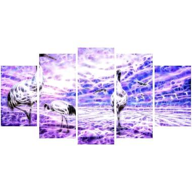 Designart – Cigognes, impression sur toile d'animal, tailles variées (PT2438-373)
