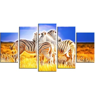 Designart Zebra Duo on Canvas, Multiple Sizes, (PT2442-373)