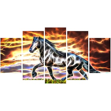 Designart Abstract Horse Animal Art Canvas, Multiple Sizes, (PT2444-373)