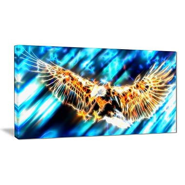 Designart Soaring Eagle Animal Canvas Art, Multiple Sizes, (PT2445-32x16)