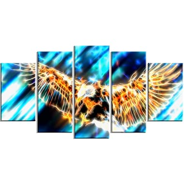 Designart Soaring Eagle Animal Canvas Art, Multiple Sizes, (PT2445-373)