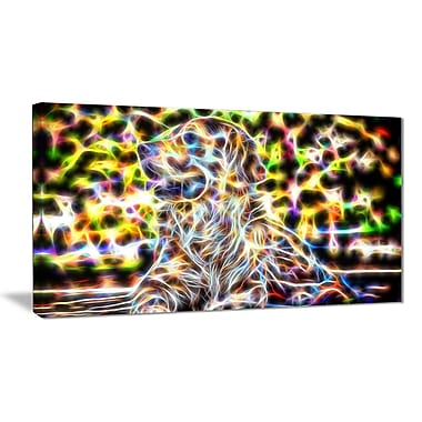 Designart Colourful Retriever Animal Art, Multiple Sizes, (PT2446-32x16)