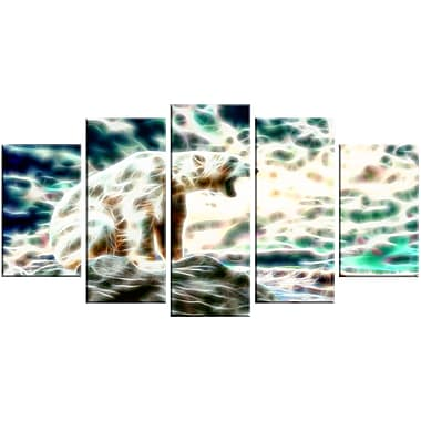 Designart Roar of the Polar Bear Animal Canvas Art, Multiple Sizes, (PT2448-373)