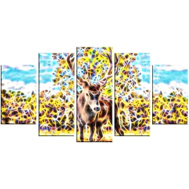 Designart Deer in the Woods Animal Canvas, Multiple Sizes, (PT2449-373)