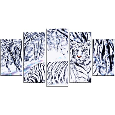 Designart White Tiger White Forest Artwork, Multiple Sizes, (PT2451-373)