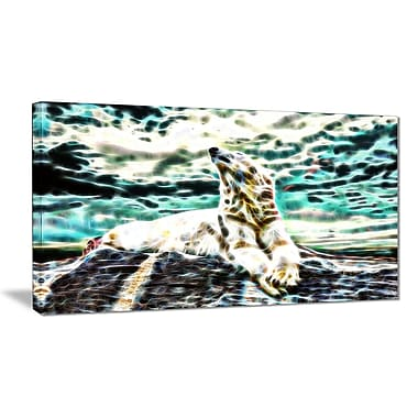Designart Polar Bear at Rest Animal Canvas, Multiple Sizes, (PT2453-32x16)