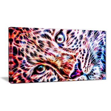 Designart Cheeta face Canvas Art Print, (PT2460-32-16)