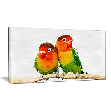Designart Best Bird Friends Canvas Art Print, (PT2492-32-16)