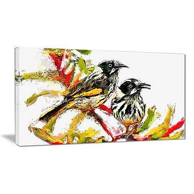 Designart Sparrow Birds Canvas Art Print, (PT2497-32-16)