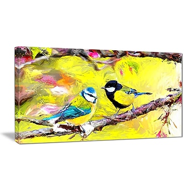 Designart Blue Jay Birds Canvas Art Print, 40