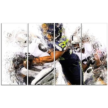 Designart – Impression sur toile, plaquage au football (PT2504-271)